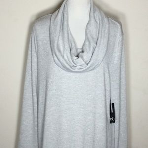 Sparkly Lightweight Sweater w/Reversible Scarf